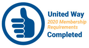 United Way blue thumbs-up Membership Requirements Completion icon